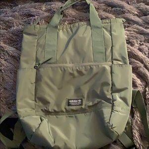 Adidas Olive Green Nylon Gym Bag/Backpack
